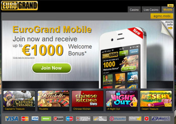 to EuroGrand mobile