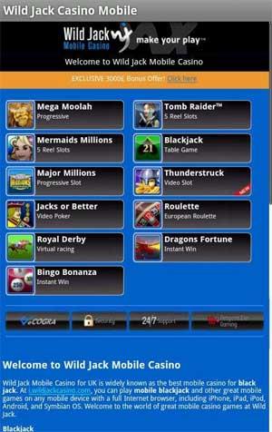 wild Jack mobile Casino